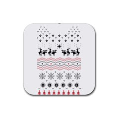 Ugly Christmas Humping Rubber Square Coaster (4 pack)