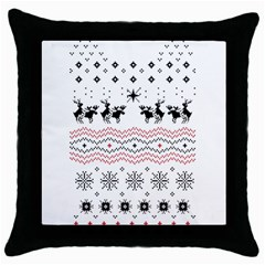 Ugly Christmas Humping Throw Pillow Case (Black)