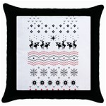 Ugly Christmas Humping Throw Pillow Case (Black) Front