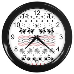 Ugly Christmas Humping Wall Clocks (Black)