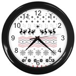 Ugly Christmas Humping Wall Clocks (Black) Front