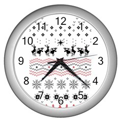 Ugly Christmas Humping Wall Clocks (silver)