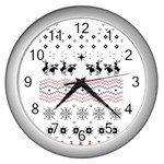 Ugly Christmas Humping Wall Clocks (Silver)  Front