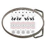 Ugly Christmas Humping Belt Buckles Front