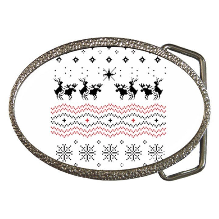 Ugly Christmas Humping Belt Buckles