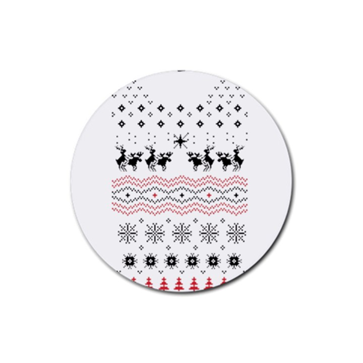 Ugly Christmas Humping Rubber Coaster (Round)