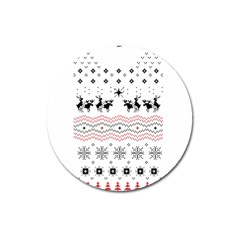 Ugly Christmas Humping Magnet 3  (round)