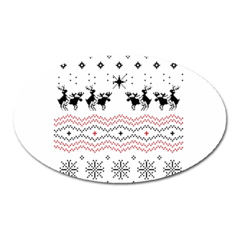 Ugly Christmas Humping Oval Magnet