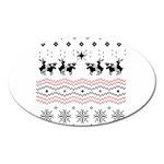 Ugly Christmas Humping Oval Magnet Front