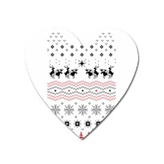 Ugly Christmas Humping Heart Magnet