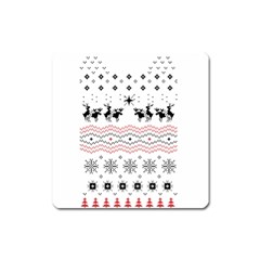 Ugly Christmas Humping Square Magnet