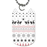 Ugly Christmas Humping Dog Tag (One Side) Front