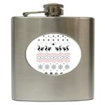 Ugly Christmas Humping Hip Flask (6 oz) Front