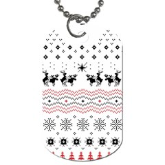 Ugly Christmas Humping Dog Tag (Two Sides)