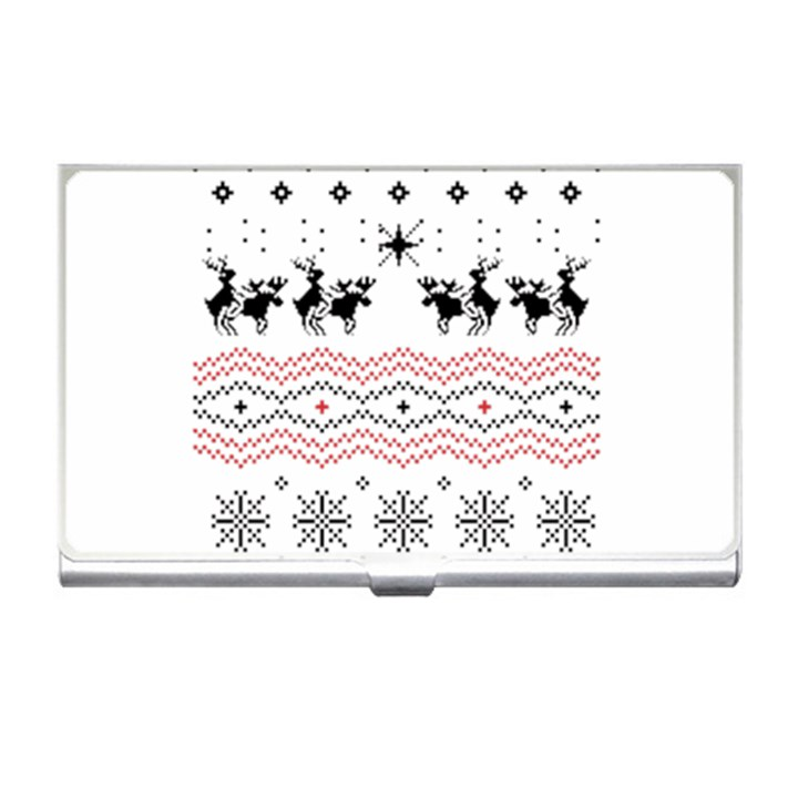 Ugly Christmas Humping Business Card Holders