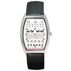 Ugly Christmas Humping Barrel Style Metal Watch