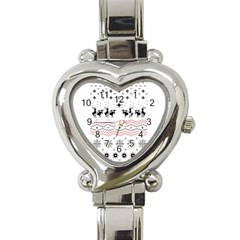 Ugly Christmas Humping Heart Italian Charm Watch