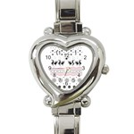 Ugly Christmas Humping Heart Italian Charm Watch Front