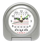 Ugly Christmas Humping Travel Alarm Clocks Front