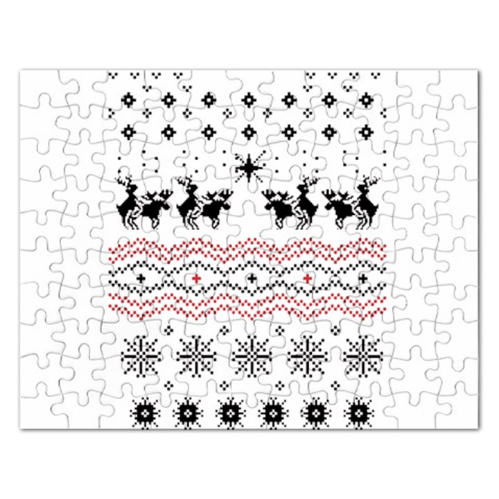 Ugly Christmas Humping Rectangular Jigsaw Puzzl
