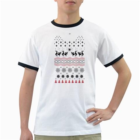 Ugly Christmas Humping Ringer T-Shirts