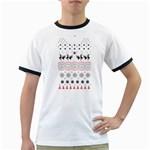 Ugly Christmas Humping Ringer T-Shirts Front