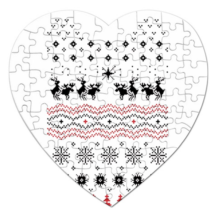Ugly Christmas Humping Jigsaw Puzzle (Heart)
