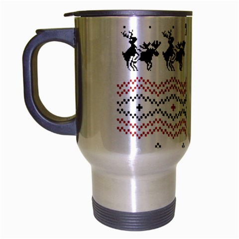 Ugly Christmas Humping Travel Mug (Silver Gray)