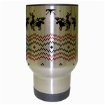 Ugly Christmas Humping Travel Mug (Silver Gray) Center