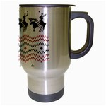 Ugly Christmas Humping Travel Mug (Silver Gray) Right
