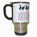 Ugly Christmas Humping Travel Mugs (White) Left