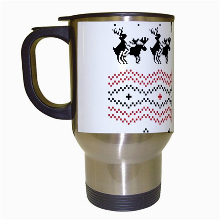 Ugly Christmas Humping Travel Mugs (White)