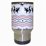 Ugly Christmas Humping Travel Mugs (White) Center