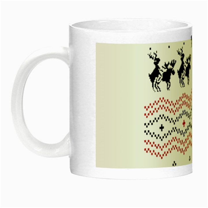 Ugly Christmas Humping Night Luminous Mugs