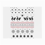 Ugly Christmas Humping Small Glasses Cloth Front