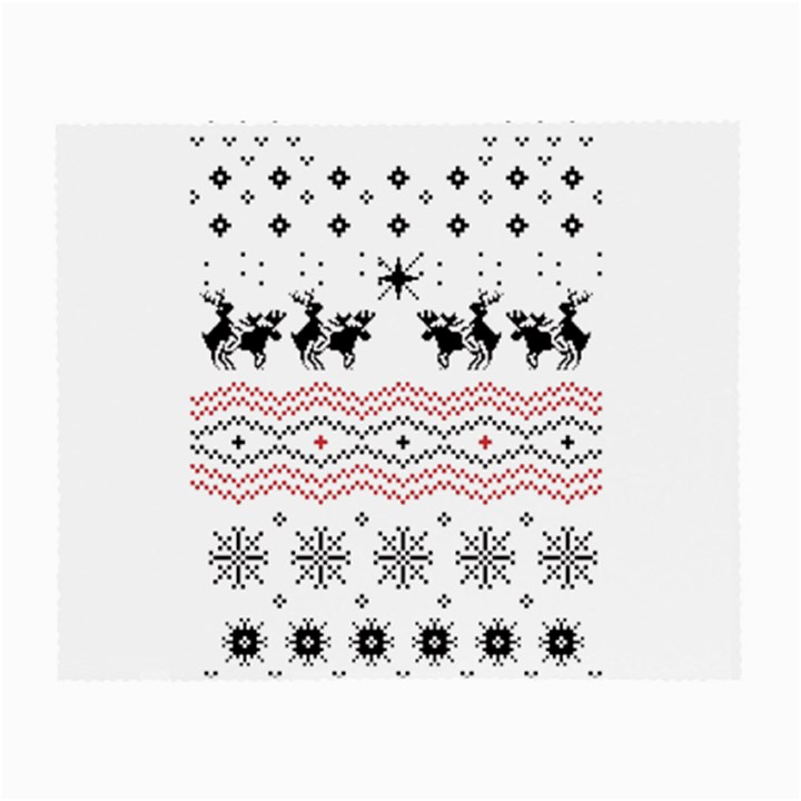 Ugly Christmas Humping Small Glasses Cloth