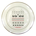 Ugly Christmas Humping Porcelain Plates Front