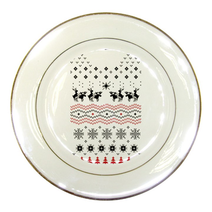 Ugly Christmas Humping Porcelain Plates