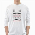 Ugly Christmas Humping White Long Sleeve T-Shirts Front