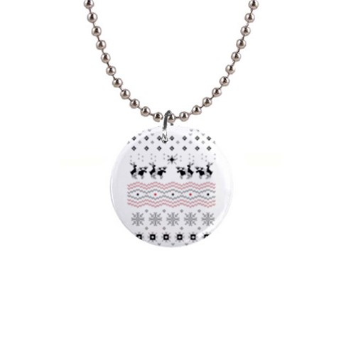 Ugly Christmas Humping Button Necklaces