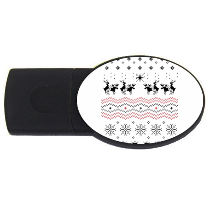 Ugly Christmas Humping USB Flash Drive Oval (4 GB)
