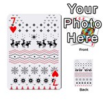 Ugly Christmas Humping Playing Cards 54 Designs  Front - Heart7