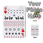 Ugly Christmas Humping Playing Cards 54 Designs  Front - Heart9