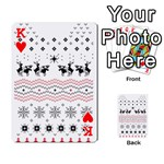 Ugly Christmas Humping Playing Cards 54 Designs  Front - HeartK