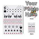 Ugly Christmas Humping Playing Cards 54 Designs  Front - Spade6