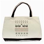 Ugly Christmas Humping Basic Tote Bag Front