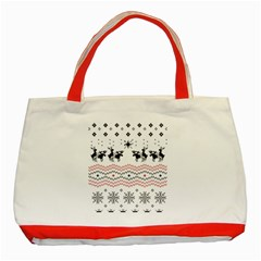 Ugly Christmas Humping Classic Tote Bag (Red)