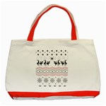 Ugly Christmas Humping Classic Tote Bag (Red) Front