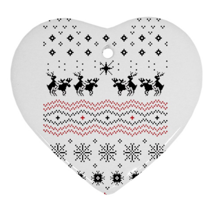 Ugly Christmas Humping Heart Ornament (2 Sides)