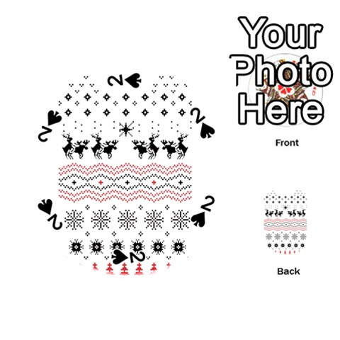 Ugly Christmas Humping Playing Cards 54 (Round)